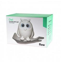 Veilleuse rechargeable en forme de hibou -  Flow - Couleurs aléatoires