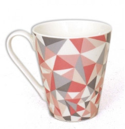 Mug Grafik - 325mL - 10 x 8,5 cm - Porcelaine