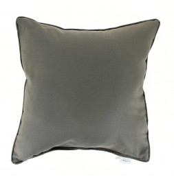 Coussin finition Passepoil - 40 x 40 cm - Taupe