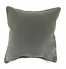 Coussin finition Passepoil - 60 x 60 cm - Taupe