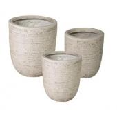 Pots de fleurs - Brik - Lot de 3 - Sable
