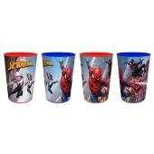Lot de 4 verres en plastique Spider-Man - 20 cl