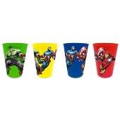 Lot de 4 verres en plastique Avengers - 28 cL