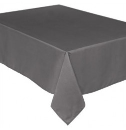Nappe anti taches rectangulaire - 140 x 240 cm - Gris