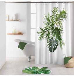 Rideau de douche avec crochets imprimé Amzonica - L 200 x l 180 cm - Polyester
