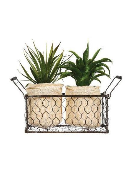 aloe vera - Plante artificielle - Lot de 2