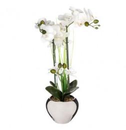 Orchidée en pot - Plante artificielle - H 53 cm