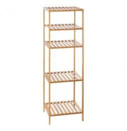 Etagère modulable 4 niveaux - L 35 x l 32 x H 111.5 cm - Bambou - Marron