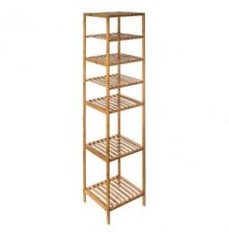 Etagère modulable 6 niveaux - L 35 x l 32 x H 145 cm - Bambou - Marron