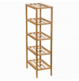 Etagère étroite 4 niveaux - L 32 x l 18.5 x H 77.5 cm - Bambou