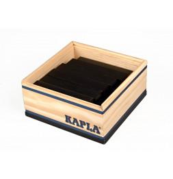 Kapla - Carré de 40 planchettes en bois - Noir