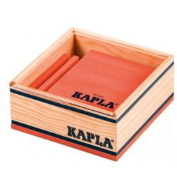 Kapla - Carré de 40 planchettes en bois - Rose