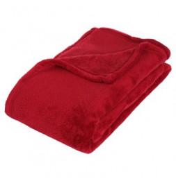 Plaid microfibre - 130 x 180 cm - Rouge