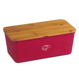 Boîte à pain en mélamine avec planche à pain intégrée - Rouge - Conservation du pain prolongée