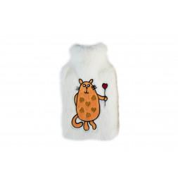 Bouillote 2L chat - L 36 x l 20 cm - Blanc