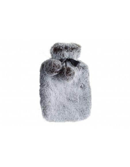 Bouillote 2L fourrure - L 36 x l 20 cm - Gris clair