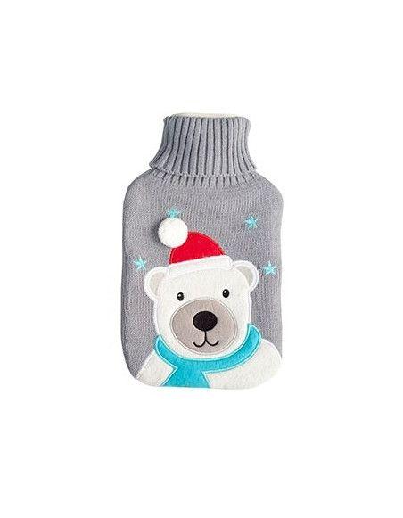 Bouillote 2L ours polaire - L 35 x l 20 cm - Gris