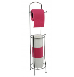 Dérouleur de papier toilettes avec réservoir - Accessoire de rangement WC