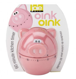 Minuteur mécanique cochon - Timer fun - Joie