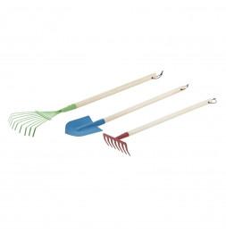 Lot de 3 outils de jardinage pour enfants