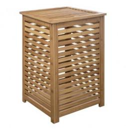 Panier à linge en bambou naturel - 40 x 40 x 58 cm