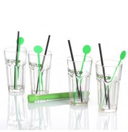 Coffret mojito 13 pièces - Set complet avec verres, pillon, pails, mélangeurs