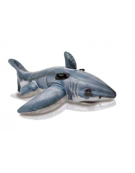 Requin blanc gonflable à chevaucher - Intex -  Piscines et jeux d'eau