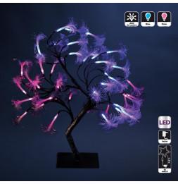Arbre lumineux - 42 LED - Bleu et rose