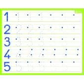 Ardoise rigide effaçable à sec - Chiffres - 20.5 x 26.5 cm