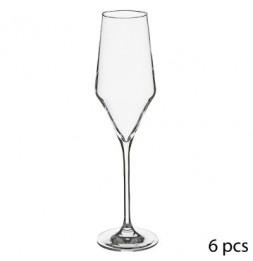 Lot de 6 flûtes à champagne - 22 cl - Clarillo - Cristallin