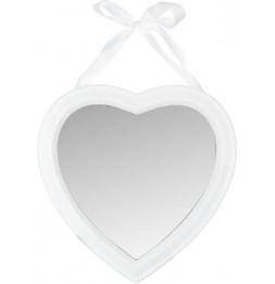Miroir en forme de coeur - 40 x 40 cm - Blanc