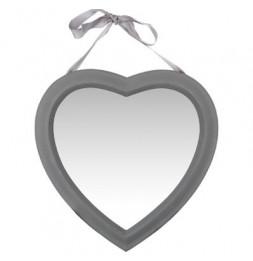 Miroir en forme de coeur - 40 x 40 cm - Gris