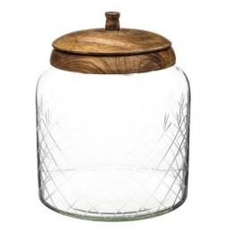Bonbonnière en verre manguier - H 20 cm