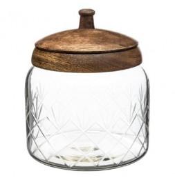 Bonbonnière en verre manguier - H 16 cm