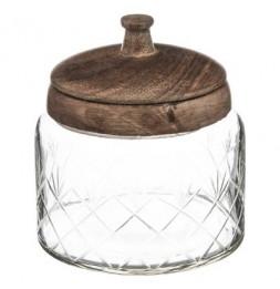Bonbonnière en verre manguier - H 13 cm