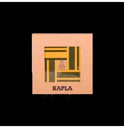 KAPLA - Coffret de 40 planchettes + 1 livre d'art - Vert et jaune