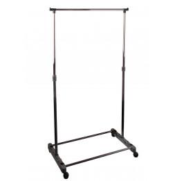 Portant à vêtements en métal - L 80 x l 42 H 95-165 cm - Noir