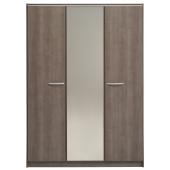 Armoire 3 portes et 1 miroir - l 139 x H 196,7 x P 52,1 cm - Gamme Evo 2