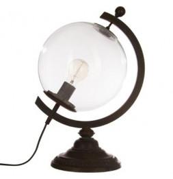Lampe en forme de globe - D 25 x H 44 cm - Noir