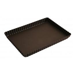 Moule à tarte rectangulaire 29  cm - Gobel - Moule patisserie antiadhérent