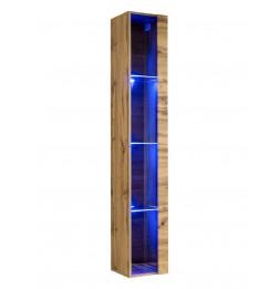 Vitrine verticale - Switch WW 1 - L 30 cm x P 30 cm x H 120 cm - Bois