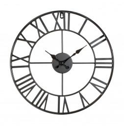 Horloge murale vintage - D 36.5 cm - Noir