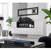 Ensemble de rangement mural - Blox SB II - 4 rangements horizontaux - Blanc et Noir
