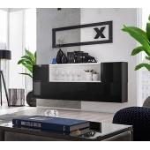 Ensemble de rangement mural - Blox SB II - 4 rangements horizontaux - Noir et blanc