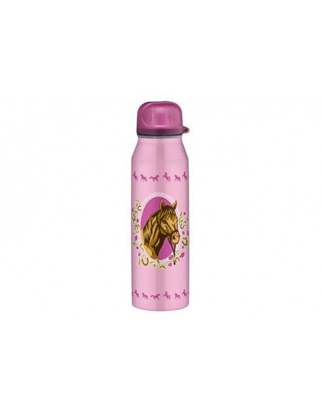 Gourde isotherme cheval - 50 cl - Rose