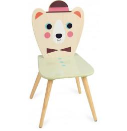 Chaise enfant - Ours à chapeau - Bois