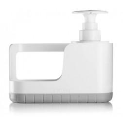 Organisateur d'évier avec distributeur à savon - Gris