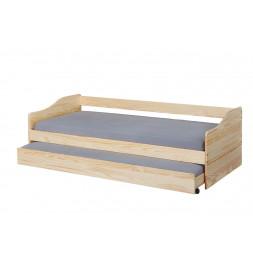 Lit banquette Malte avec tiroir de lit - L 208 x l 97 x H 62 cm - Beige