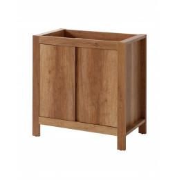 Meuble sous vasque - 80 x 46 x 79 cm - Classic oak