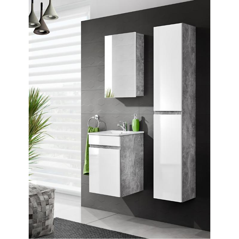 Colonne de salle de bain Atelier - 30 x 27 x 160 cm - Grande ...